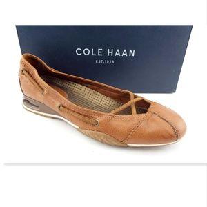 COLE HAAN Nike Air Brown Tan Leather Ballet flat 8